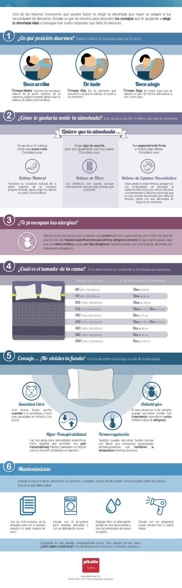 como elegir una almohada