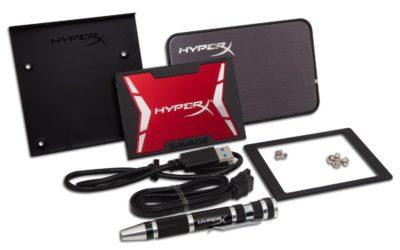 Disco SSD Hyperx SAVAGE de 480 GB y kit de montage