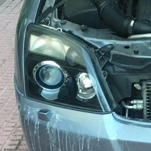 Sellador tras pulir los faros del coche
