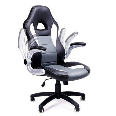 Reposabrazos abatibles en silla ergonómica SONGMICS Racing OBG28B