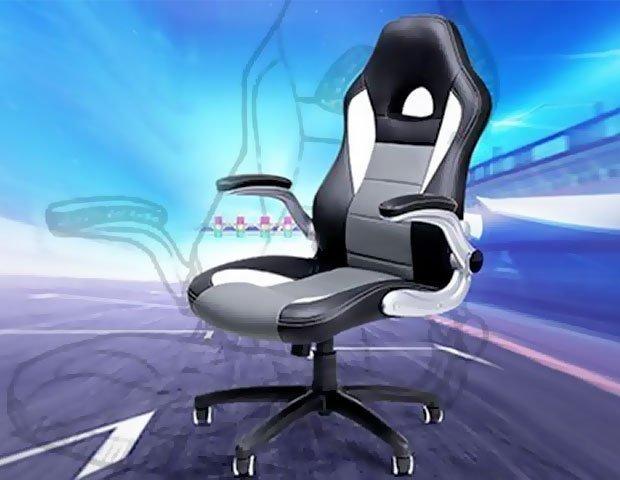 Silla ergonómica de oficina tipo racing