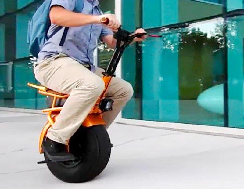 Monociclo eléctrico de una rueda