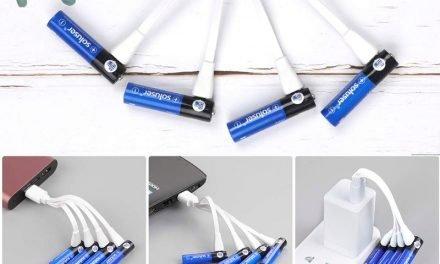 Pilas AA y AAA recargables por cable USB