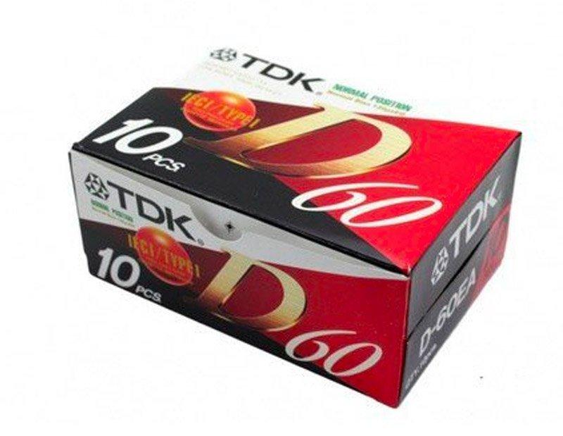 Cinta de cassette virgen TDK D60