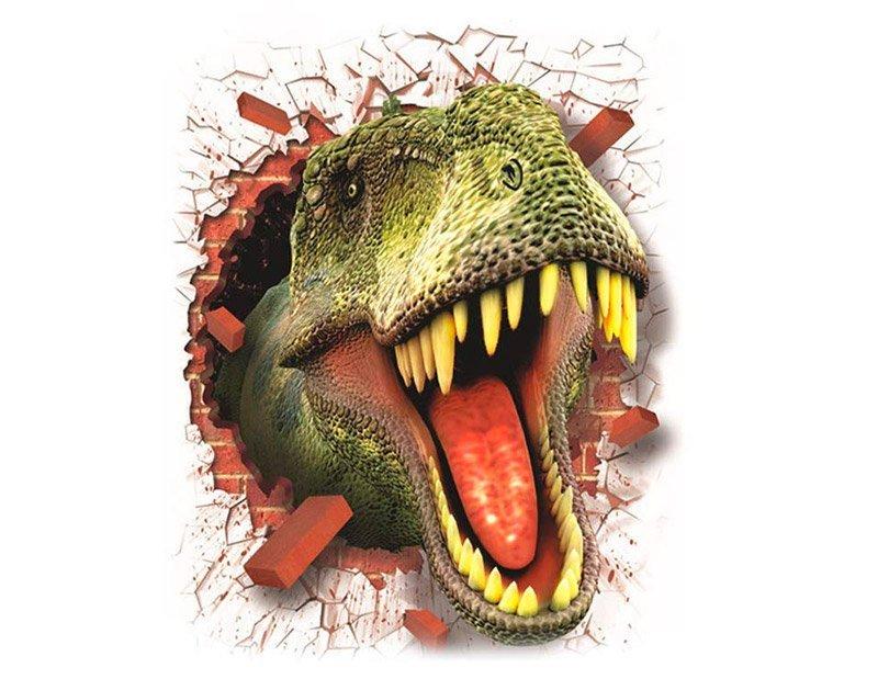 Pegatina de Pared Dinosaurio 3D