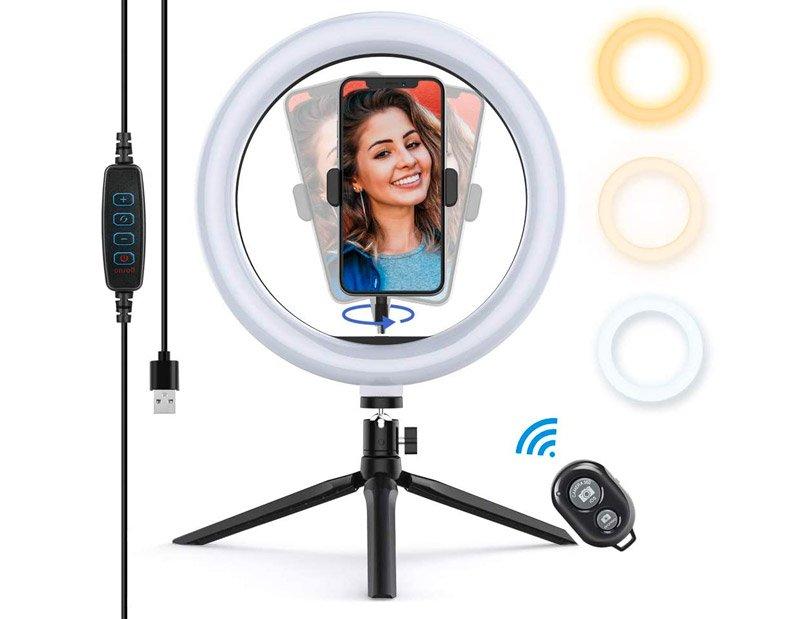 Aro de luz para selfie y vídeos de Youtube