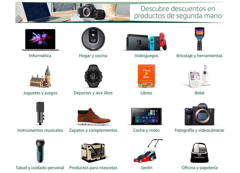 Productos de segunda mano en Amazon